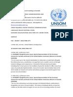UN Security Council Meeting on Somalia