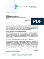 carta autoridades JIMMY GARCIA- covid 19