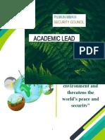 Academic Lead (UN model) 2019