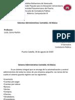 Sistemas Administrativos Contables. A2 Básico