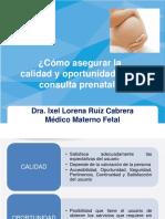 como asegurar la calidad y oportunidad de la consulta prenatal