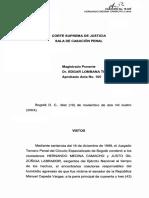 Providencia de casación penal No. 18.428 (caso Manuel Cepeda Vargas)