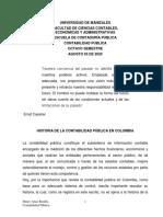 Historia de la Contabilidad Pública en Colombia