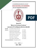 MEDICION DE RESIS N°4 CONEXION DEL GENERADOR DE CORRIENTE CONTINUA