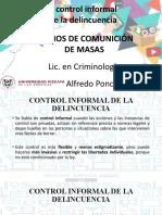 CONTROL INFORMAL DE LA DELINCUENCIA. MEDIOS DE COMUNICACION