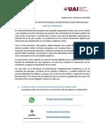 Guía de Tutoriales para Protocolo de Actuación ante Posible Suspensión de Clases Presenciales