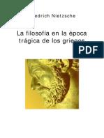 nietzsche - la filosofia en la epoca tragica de los griegos