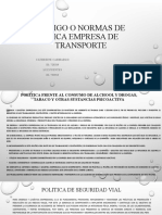 CODIGO O NORMAS DE ETICA EMPRESA DE TRANSPORTE