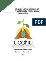 Currículos de Ing. Agronómica y Agronomía en Colombia