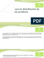 Logística para la distribución de un producto