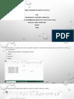 Actividad Tutorial Manejando la herramienta Excel