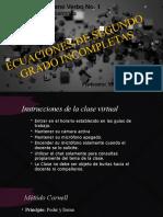 ECUACIONES DE 2DO GRADO CLASE 11 DE AGOSTO 2DO BÁSICO