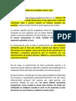 SENTENCIA ANTICIPADA DE ACUERDO CON EL CGP