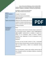 Diseño de objetivos, actividades y evaluación del aprendizaje