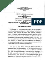 DOJ-NBI Report on death of Leonard Co etal