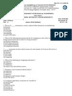 ME8501 Metrology and Measurements U-I QP.docx