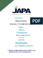 TAREA 6 DE PSICOLOGIA SOCIAL Y COMUNITARIA
