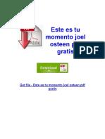 este-es-tu-momento-joel-osteen-pdf-gratis