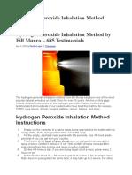 Inhalation Method for kids