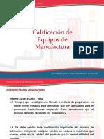 Universidad Nacional - Calificacion de Equipos de Manufactura