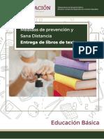 ANEXO 3 MEDIDAS DE PREVENCIÓN ENTREGA DE LIBROS DE TEXTO