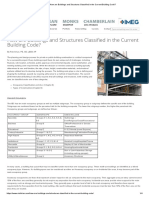 How are Buildings and Structures Classified in the Current Building Code_
