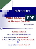 TALLER ROTULADO NUTRICIONAL    2020