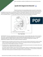 FTL Revisión y ajuste del ángulo de dirección