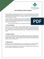 Customer Feedback at Titan Company 04.docx