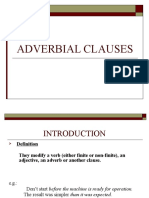 Adverbial-Clauses
