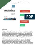 VBA Access Cours et Exercices corrigés - Créez des applications professionnelles PDF - Télécharger, Lire