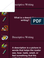 Descriptive Writing Powerpoint