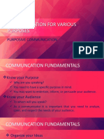 COMMUNICATION FOR VARIOUS PURPOSES.pptx