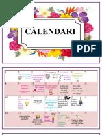 Calendario etica - E.F