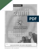 Vestibular 1_2000 - Prova 1 - 11 de Janeiro