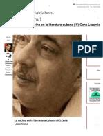 La cocina en la literatura cubana (IV):Cena Lezamiana     Restaurante El Aldabón