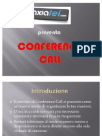 Conference Call AXIATEL