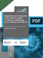 Diagnóstico de la situación de las mujeres rurales y urbanas, y disidencias en el contexto de COVID-19