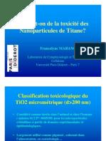TiO2 toxicité