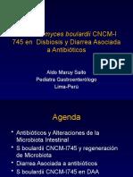 Utilidad de Saccharomyces boulardii CNCM-I745