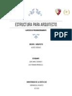 EJERCICIO  DE PREDIMENSIONAMIENTO