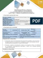 Guía de actividades y rúbrica de evaluación - Paso 2 - Elaborar el problema de Investigación.pdf