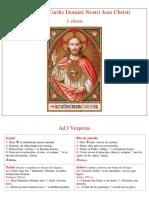 1.I Vísperas Sanctissimi Cordi D N J C