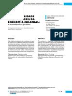A essencialidade agropastoril da economia colonial - José Jobson Arruda