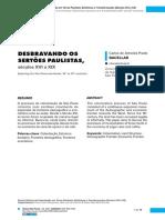 Desbravando os sertões paulistas - Carlos Bacellar