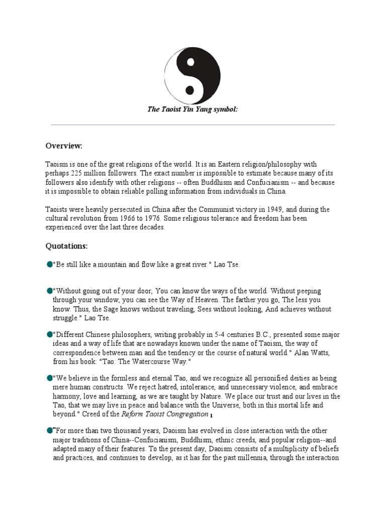 The Taoist Yin Yang Symbol Tao Laozi