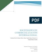 Sociedades de comercialización internacional