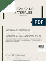 1. MECANICA DE MATERIALES FUERZAS INTERNAS