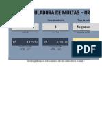 Calculadora de multas NR 28