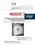 Manual de Tablero Barbotante metalico